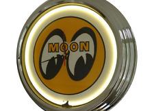 N-0259 Moon Eyes - Deko Retro Neon Uhr Clock Wanduhr Neonuhr Neonclock Werkstatt