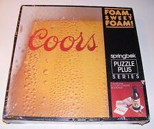 Coors Beer Foam Sweet Foam Puzzle Plus Coasters by Springbok NEW