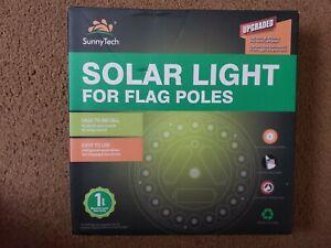 Sunnytech Solar Power Flag Pole Flagpole Light,Upgraded UFO Solar