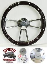 "70-73 Blazer Suburban Chevy pickup steering wheel BOWTIE 14"" MAHOGANY w/rivets"