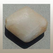 a 31mm x 26mm lovely diamond shaped ancient tabular quartz bead mali #93