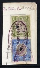 1902-6 Transvaal Selection of Revenues on Piece. Superb Used & Most Attractive.