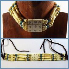 Unisex Modeschmuck-Halsketten mit Türkis-Hauptstein