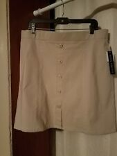 ladies size 14 counterparts beige skirt
