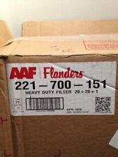 Aaf/Flanders Heavy Duty Flat Panel Spun Fiberglass - 20x20x1 - Lot of 12