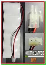 Batteria allarme DUEVI pila PANASONIC 6xD 9V 9 volts per sirena
