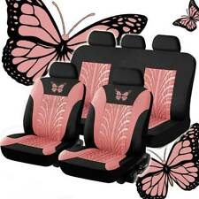 Auto Seat Covers Universal Car Truck SUV Protectors Front & Rear Row Butterfly