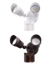 Dual Head LED Security Light 20 Watt Motion Sensor Dusk to Dawn White or Bronze