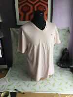 Tommy Hilfiger - off Pink V-Neck XL T-Shirt - Extra Large