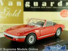 LOTUS ELAN S3 MODEL CAR RED CONVERTIBLE 1:43 SCALE VANGUARDS GOLD VG003041R K8
