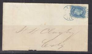 UNITED STATES, c1865 cover, 1c. Franklin, Galesport, Ill. in Blue, local.