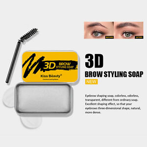 10G NEW COLORLESS LONG LASTING ANTI-COLLAPSING STYLING POMADE EYEBROW SOAP KIT