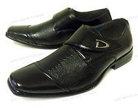 Men's Dress Shoes Slip On Loafers Fashion Casual Snake Print Adjust Strap, Sizes