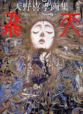RARE Yoshitaka Amano HITEN ART BOOK (1989) JAPAN Final Fantasy OUT OF PRINT!!!