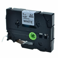 """1PK TZ 211 TZe-211 Black on White Label Tape For Brother P-Touch PT-7100 1/4"""""""