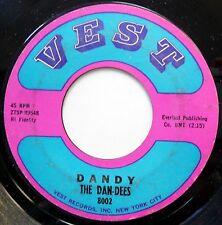 DAN-DEES 45 Memphis / Dandy GARAGE Rock N Roll CHUCK BERRY 1963 Vest w1116