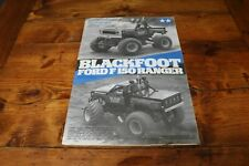 Tamiya Blackfoot Ford F150 Ranger Build Manual Instructions RC Handbook