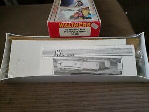 Walthers HO F89F Tofc Flat Ttx Triple 28 #154444