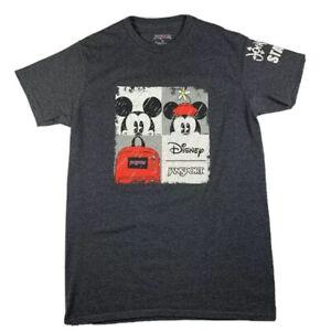 Disney Jansport Mickey Minnie Journeys Staff T Shirt Small Short Sleeve Grey