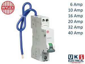 Wylex Compact RCBO 6a 10a 16a 20a 32a 40a Amp Type B C 30mA Mini RCBO NHXS1B NHX