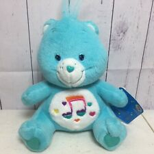 """Care Bears Plush Heartsong Bear Stuffed Animal 2006 7"""" inches Music Notes W Tag"""