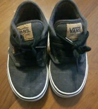 VANS OFF THE WALL BLACK LACE UP SNEAKERS BOYS TODDLER SIZE 10.5