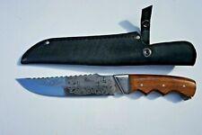 Handmade Custom Hunting Knife Natural Wood Handle.Yakut. Made in Europe!