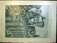 Original Old Antique Print Queen Sier Family Christmas Tree Windsor Fusiliers