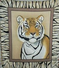 Fleece Wall Hanging Blanket Panel Throw White Tiger NEW