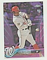 2018 Topps Chrome Update PINK REFRACTOR #HMT22 VICTOR ROBLES RC Rookie Nationals