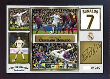 Cristiano Ronaldo Real Madrid signed autograph Football Memorabilia Framed #077