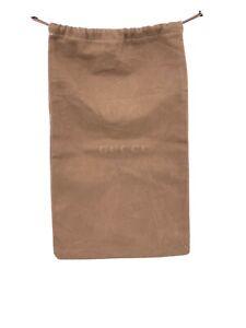 """Gucci Brown Vintage Canvas Shoe Dust Bag  9""""X 14"""" (B-6)"""