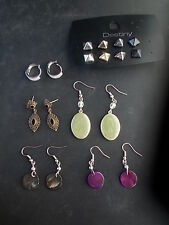 9 Pairs Various Costume Earrings  Imitation Jewels Stones for pierced ears