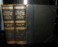 New Standard Dictionary Of The English Language Upon Original Plans. 2 Vols 1922