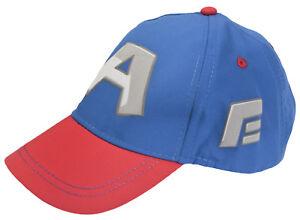 Captain America Boys Baseball Cap With Goggles Kids Marvel Avengers Summer Hat