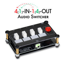 Mini 4(1)-IN-1(4)-OUT 3.5mm Audio Switcher Passive Selector Headphone Splitter