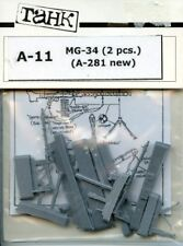 TAHK Tank 1:35 WWII German MG-34 Machine Gun Set  - Resin Figure Accessory #A-11
