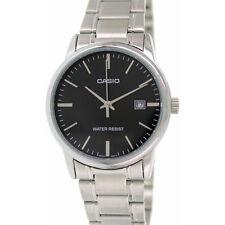 Casio Mtpv002d-1a Mens Black Dial Analog Quartz Watch With Metal Strap