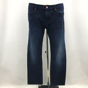 Hugo Boss Jeans Trousers Size W36 L32 Blue Denim Casual Menswear Simple 112589