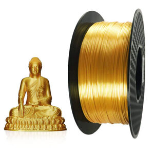 Silk Gold 3D Printer PLA Filament 1.75 mm 1 KG Spool 3D Printing Material Silky