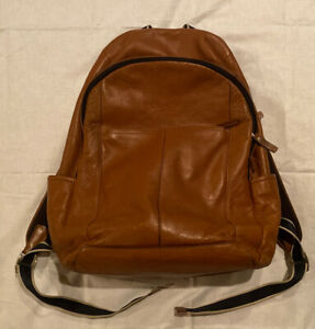 Leather COACH Heritage Backpack Brown F70747