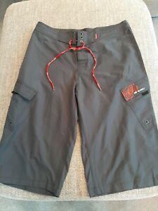 Mens Animal grey Long Bermuda Shorts Cropped Trousers, L