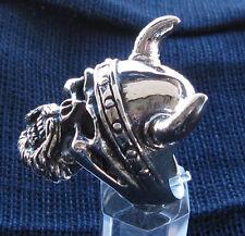 Stainless Steel Viking King Skull Biker Ring MC Custom Sized Handmade R-1ss