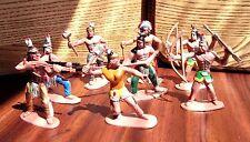 Vintage 1980-90's Soviet USSR 2.5 inch I Plastic Toy American Indians 8 pcs RARE