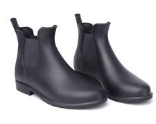 Rain Boots Women Men Non-Slip Shoes Chelsea Rubber Ankle Boots Waterproof