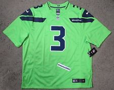 aa0cfaa64 Mens 2xl Nike NFL Seattle Seahawks Color Rush Wilson  3 Limited Jersey RARE  XXL