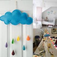 Enfant Tente Décoration Pluie Nuages Goutte Eau Chambre Autocollants Mural Neuf