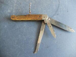 Altes Taschenmesser mit Hirschhornschalen, Herstellermarke, wohl um 1900/20, #2