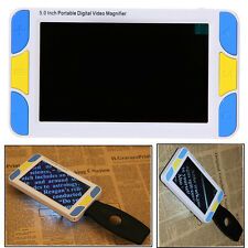 "Portable 5.0"" Digital LCD Electronic Magnifier Pocket Low Vision Reading Aid Hot"