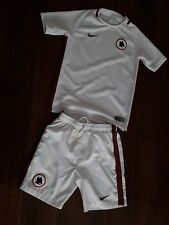 Boys NIKE AS ROMA FOOTBALL AWAY  Shirt Shorts Kit (age 10-12 YRS )